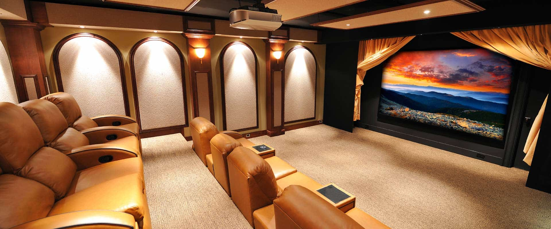 Home theater systems lutron lighting whole house audio nyc - Home theater sound system design ...